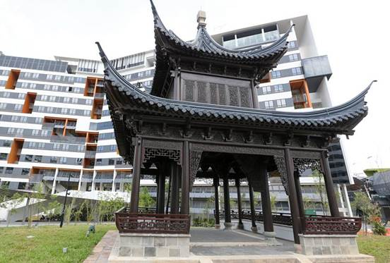 double-tier pavilion